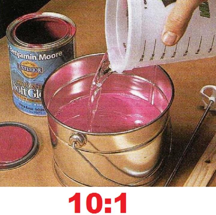 Пропорции в разведении краски