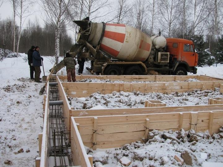 Строительные работы зимой