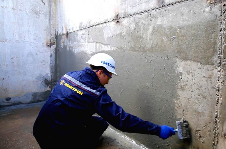 Обработка стен подвала гидроизоляцией