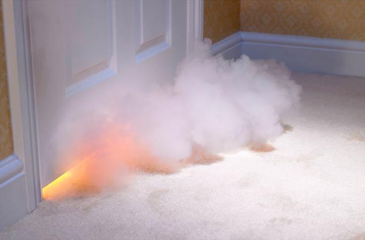 Задымление и возгорание в доме