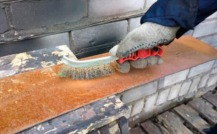 Очистка металлической поверхности от ржавчины и старой краски
