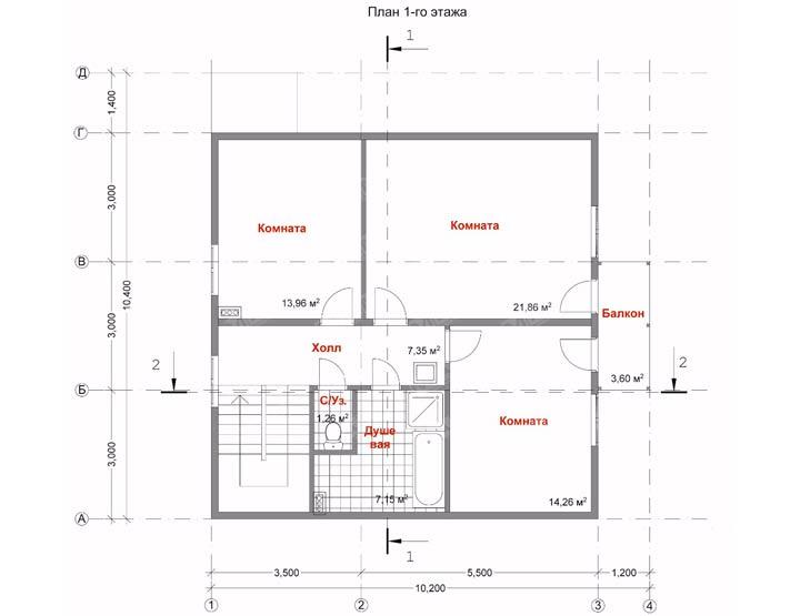 Схема размещения комнат