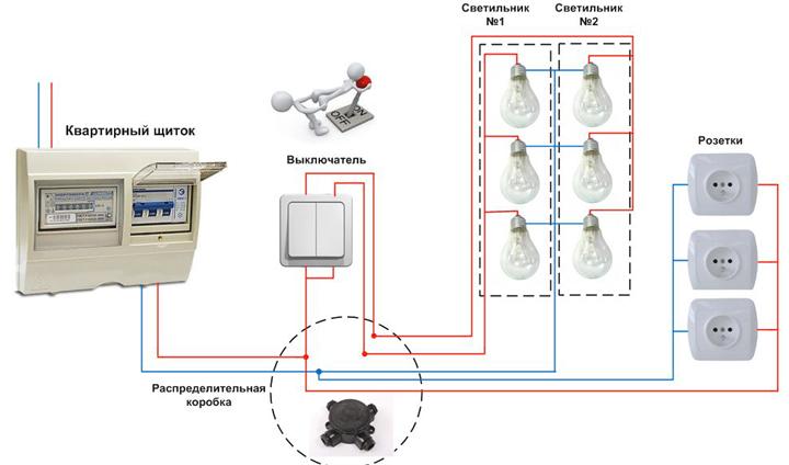 Схема парралельного подключения