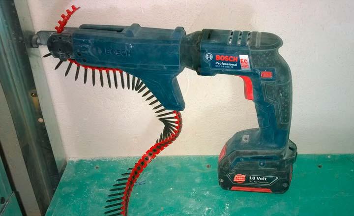 Пистолет для крепления гипсокартона применение