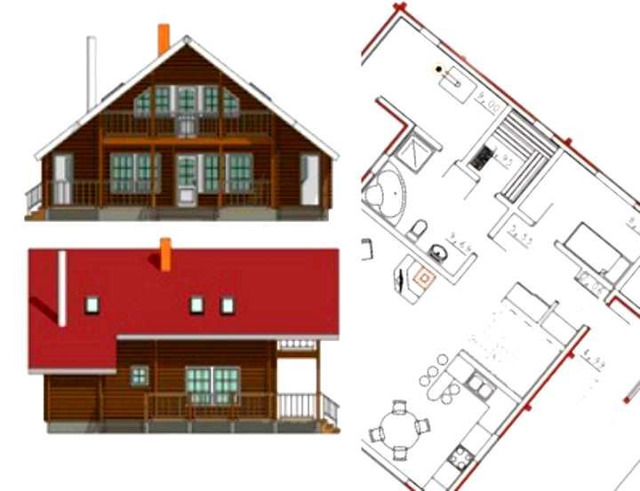 Финский дом с красным фасадом