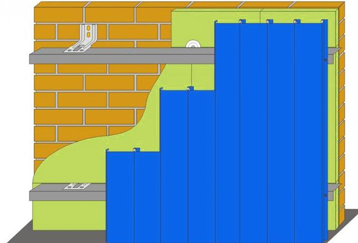 Схема вертикального монтажа
