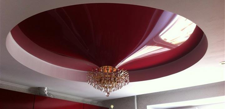 Конусная форма натяжного потолка
