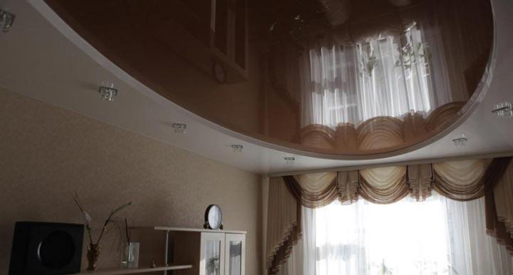 Овальная форма натяжного потолка