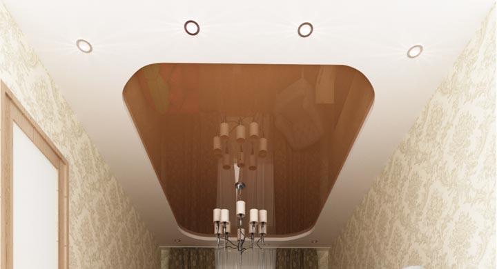 Утопленная форма натяжного потолка
