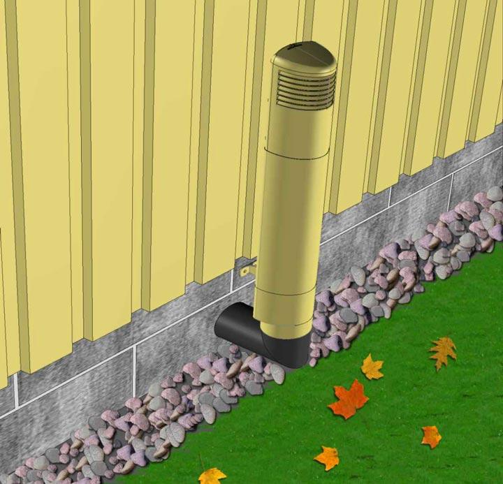 Цоокольный дефлектор дома