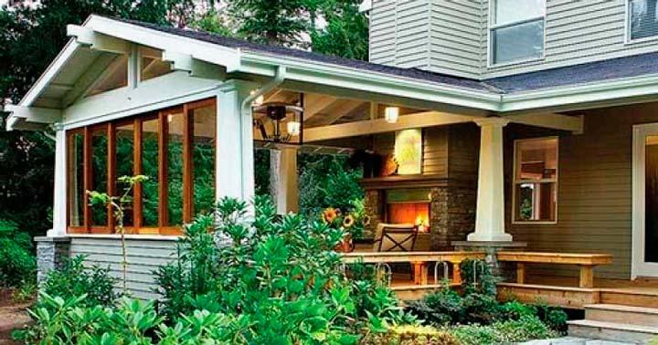 Веранда дома с отдельным входом