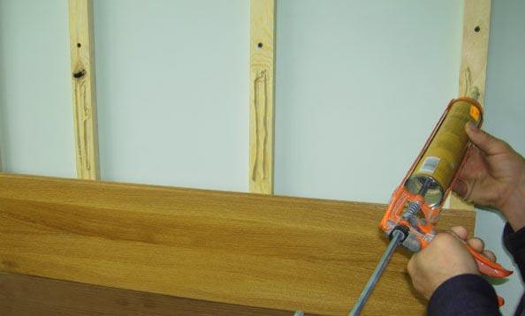 Монтаж ламината на неровную стену