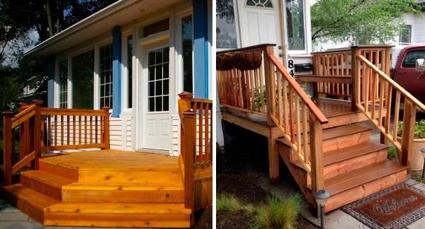 Основные недостатки деревянных ступеней на крыльце