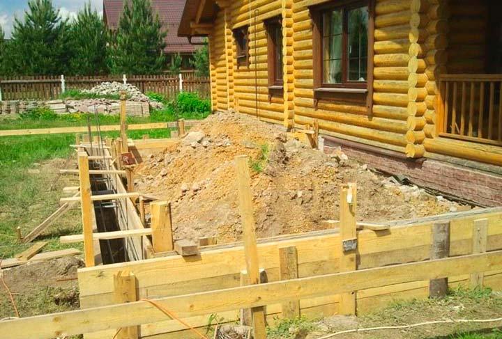 Строительство фундамента веранды