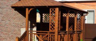 Угловая веранда дома