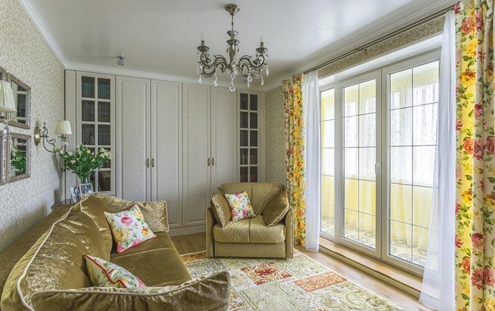 Французские окна увеличивают визуально комнату
