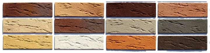 Цветовая палитра декоративного кирпича