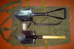 Инструменты для изготовления землянки
