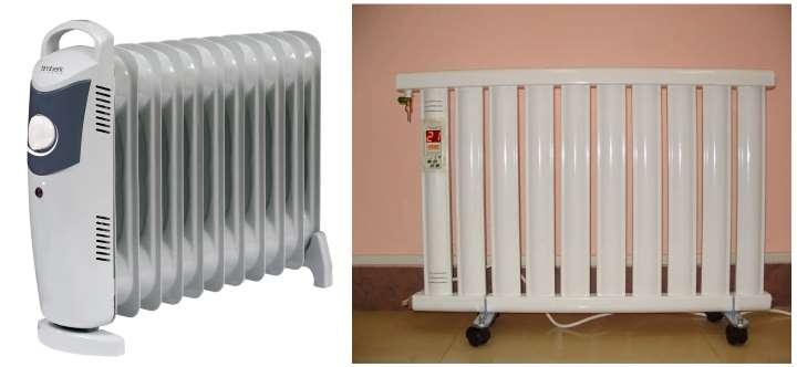 Вариант электроотопления - масляные радиаторы
