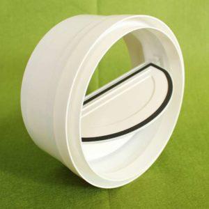 Пластиковый двухстворчатый обратный клапан вентиляции