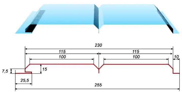 Пример размеров сайдинга