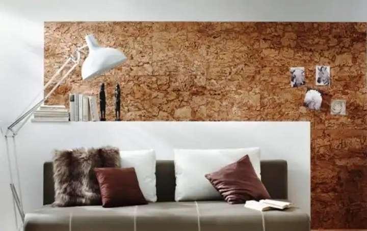 Пробковые материалы в дизайне спальни