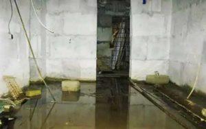 Подвал, залитый водой