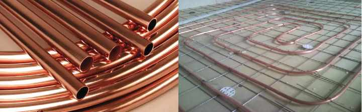 Трубы из меди для водяного теплого пола