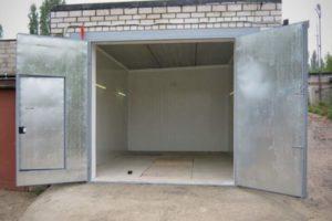 Оцинкованные гаражные ворота