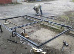 Металлический каркас для гаражных ворот