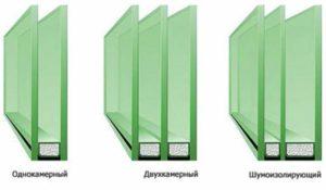 Три варианта стеклопакетов