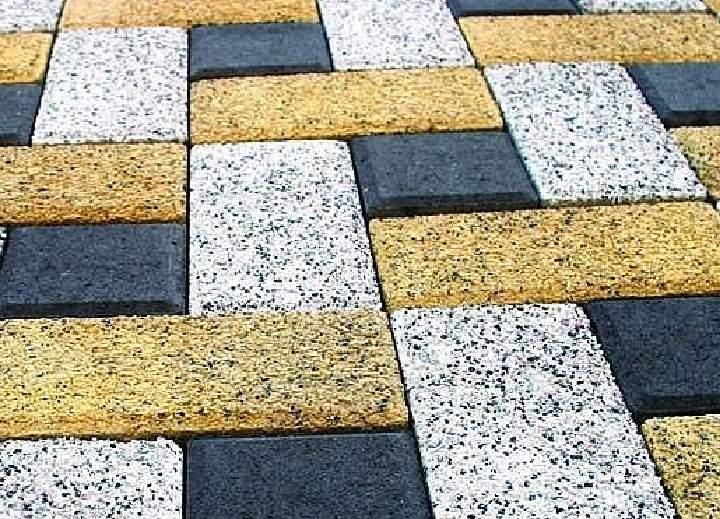 Виды тротуарной плитки - махровая поверхность