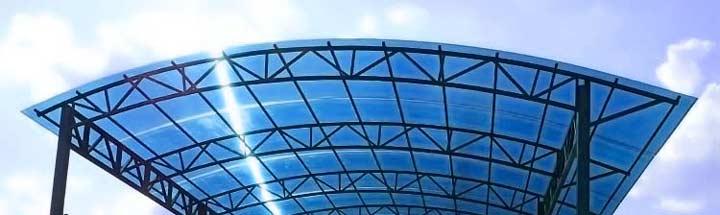 Арочный навес из поликарбоната