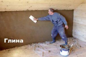 Глиняная смесь для деревянной поверхности