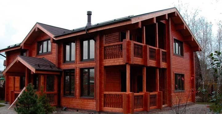 Дом из бруса лиственницы