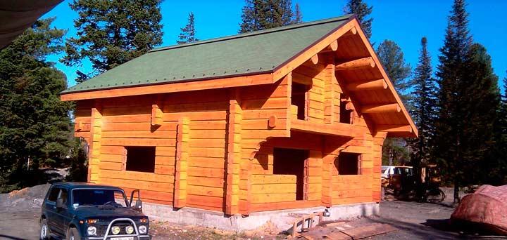 Советы по строительству дома из бруса лиственницы