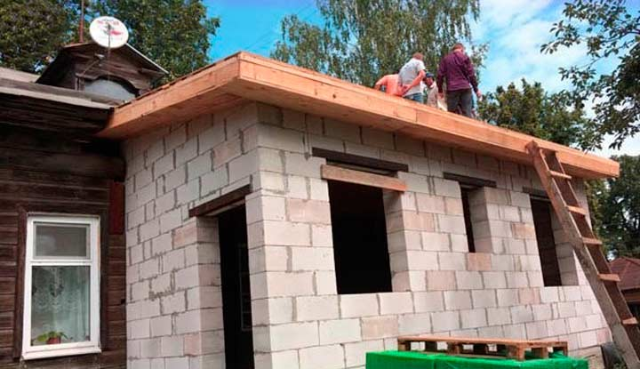 Правила строительства пристроя в деревянном доме