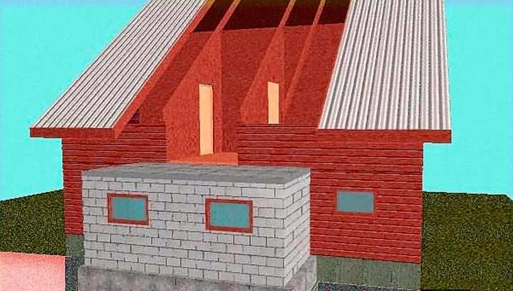 Как построить кирпичный пристрой к деревянному дому