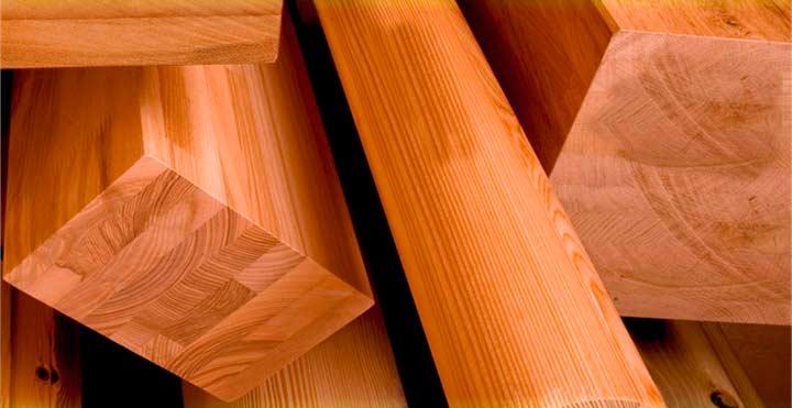 Клееный брус лиственницы