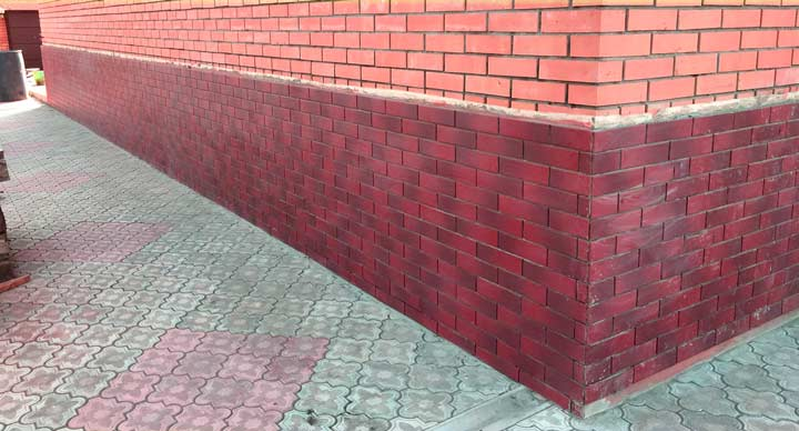 Клинкерная плитка для фундамента дома