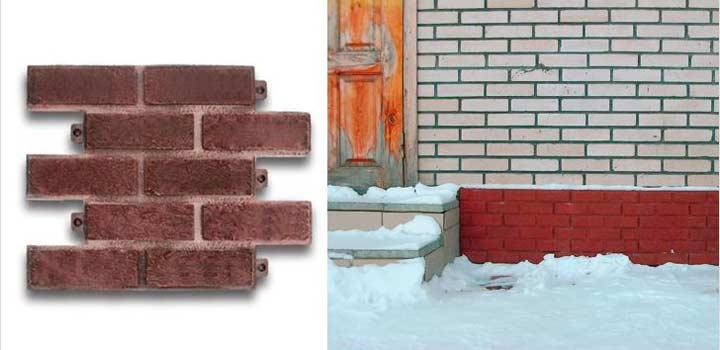 Укладка плитки для отделки фундамента дома происходит в следующем порядке: