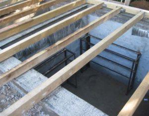 Потолок подвала гаража