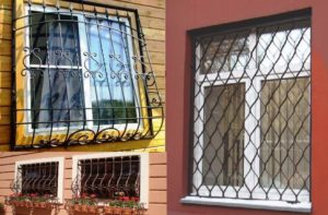 Сетки и решетки на окне