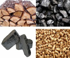 Дрова, уголь и опилки