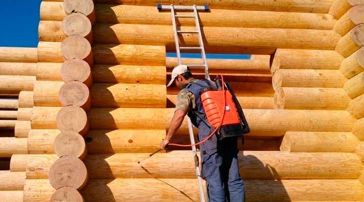 Уход за домом из деревянного бруса