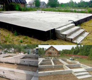 Три вида фундаментов домов из бруса