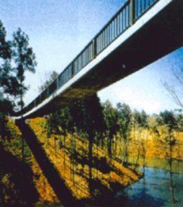 построен Первый бетонный пешеходный мост в Европе с фибробетонными полимерами