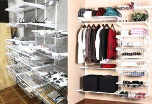 Сетки для гардеробных комнат