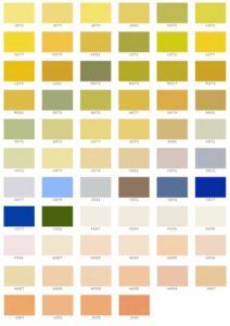 Таблица для смешивания краски