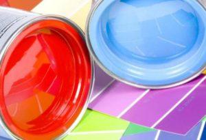 Два цвета краски